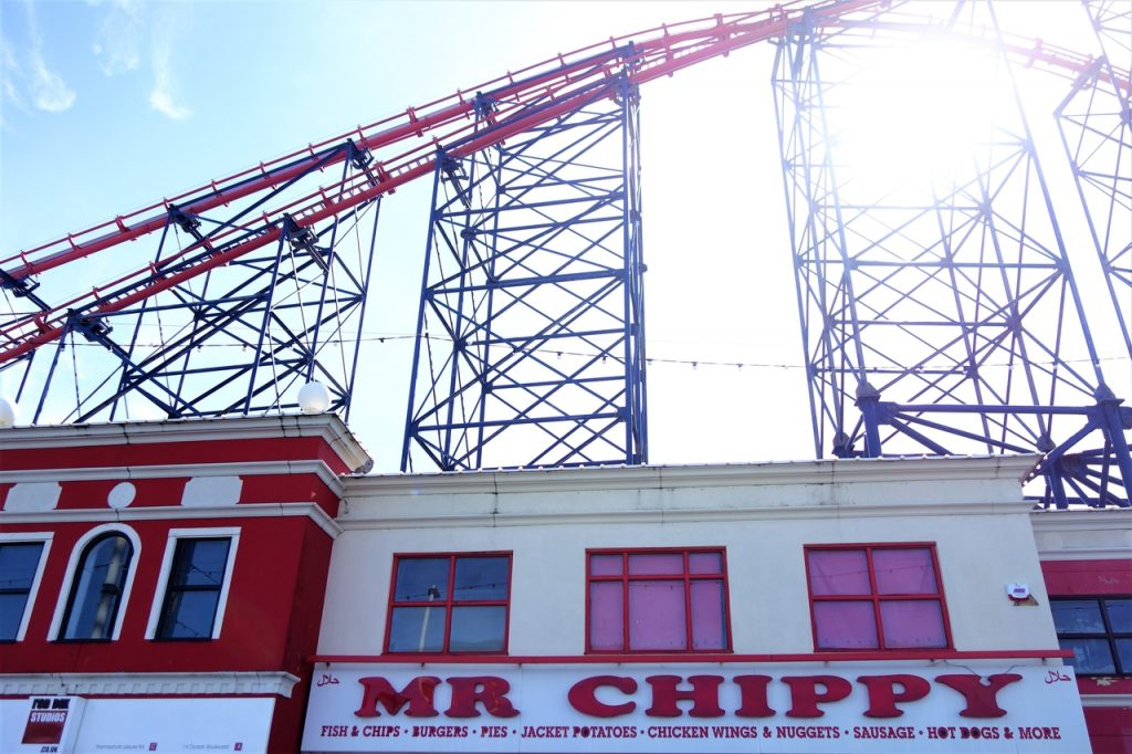 Coastal Road Trip, Blackpool, Blackpool Pleasure Beach, Mr Chippy