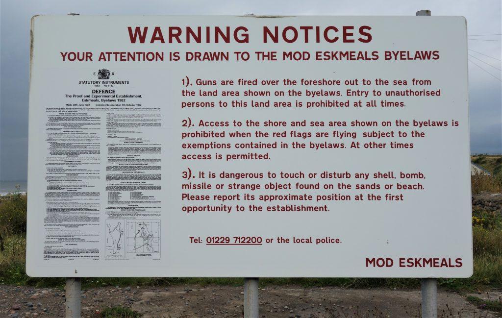 Coastal Road Trip, Eskmeals Beach, MOD Eskmeals