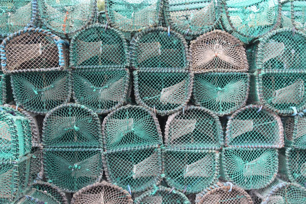 Coastal Road Trip, Tarbet, Harbour, Lobster pots
