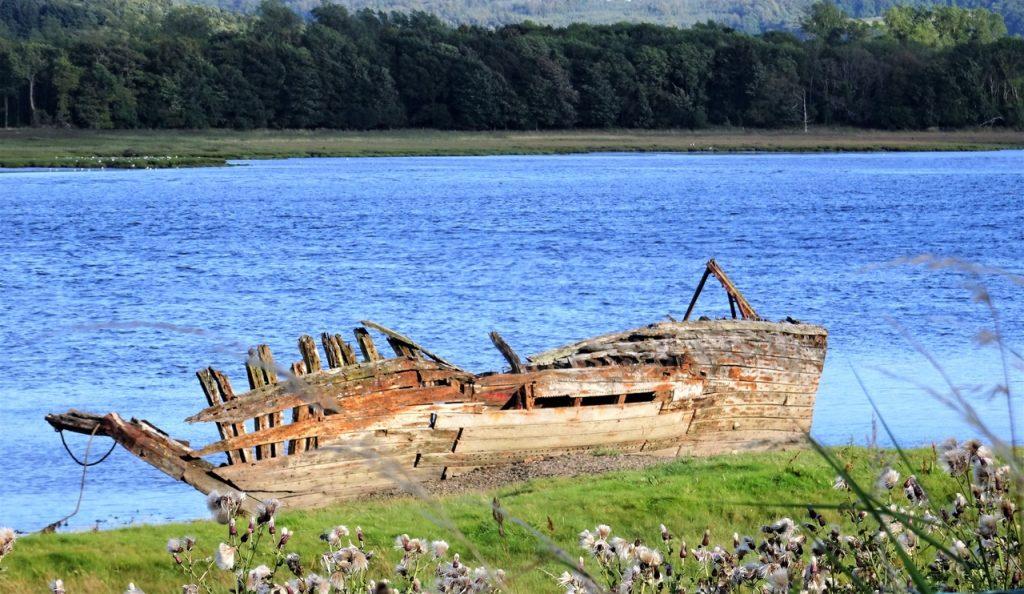 Coastal Road Trip. Kirkcudbright, boat wreck