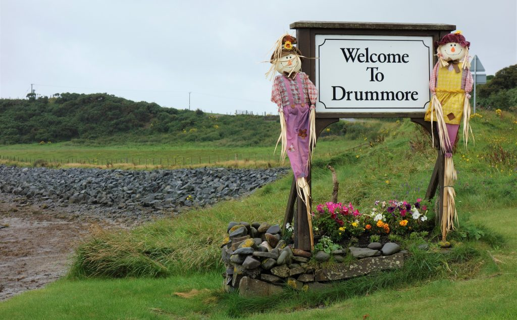 Coastal Road Trip, Drummore, Welcome Scarecrow