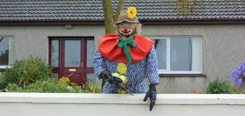 Coastal Road Trip, Drummore, Clown Scarecrow