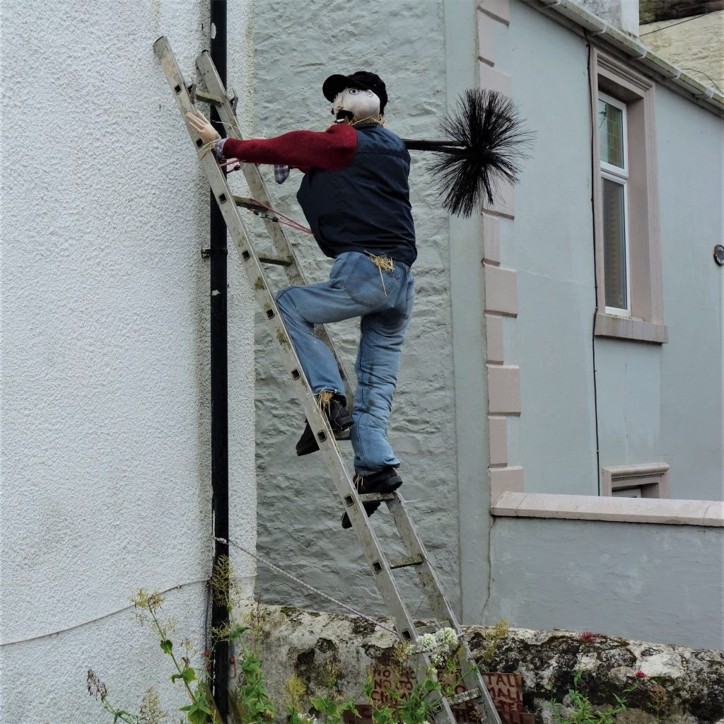 Coastal Road Trip, Drummore, Chimney Sweep Scarecrow