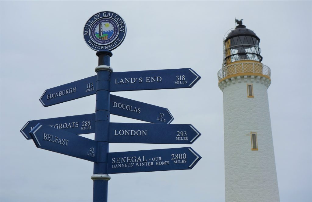 Coastal Road Trip, Mull of Galloway Lighthouse, Sign