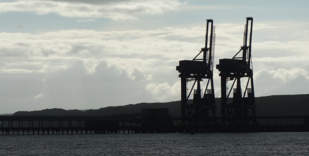 Coastal Road Trip, Hunterston, Cranes