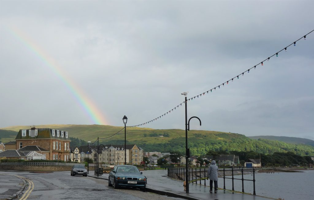 Coastal Road Trip, Largs, Rainbow