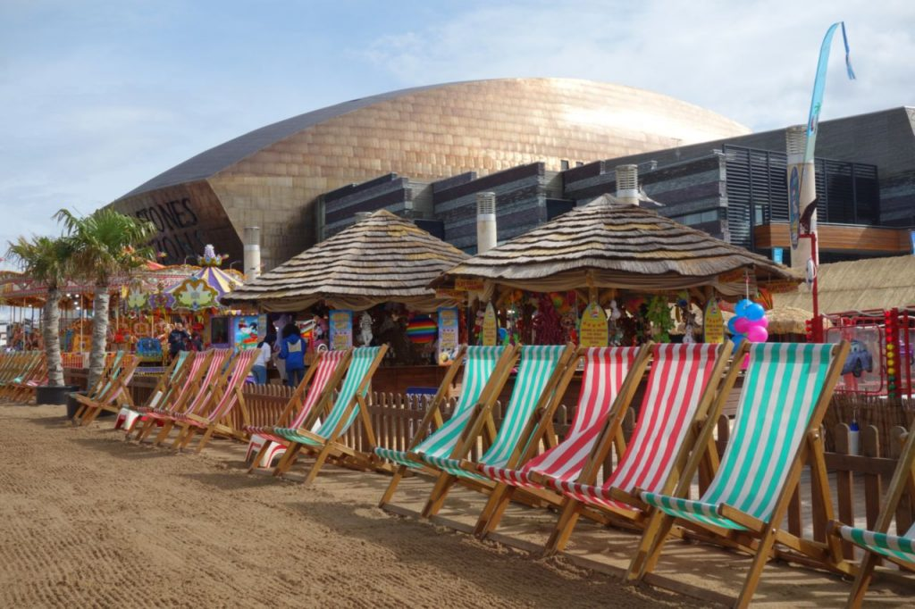 Coastal Road Trip, Beach chairs, Wales Millennium Centre