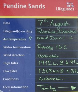 Coastal Road Trip, Pendine Sands, Lifeguard Notice