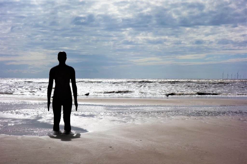 Coastal Road Trip, Crosby Beach, Antony Gormley's Another Place