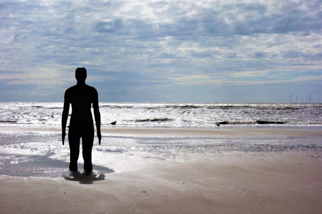 Coastal Road Trip, Crosby Beach, Antony Gormley's Another Place