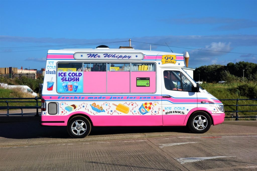 Coastal Road Trip, Southport, Ice cream van