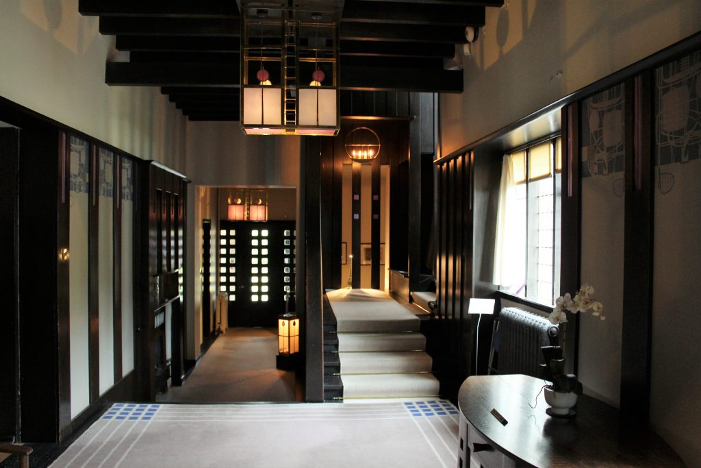 Coastal Road Trip, Helensburgh, Hill House, Charles Rennie Mackintosh, Entrance Hall