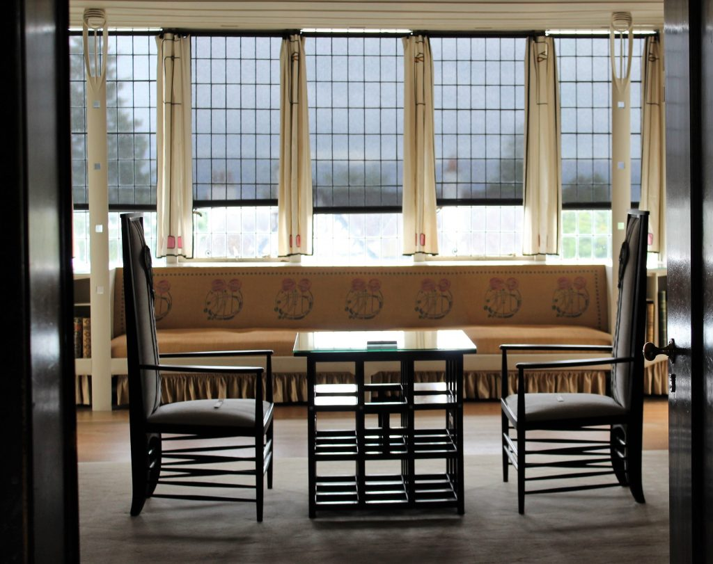 Coastal Road Trip, Helensburgh, Hill House, Charles Rennie Mackintosh, Table, Chairs