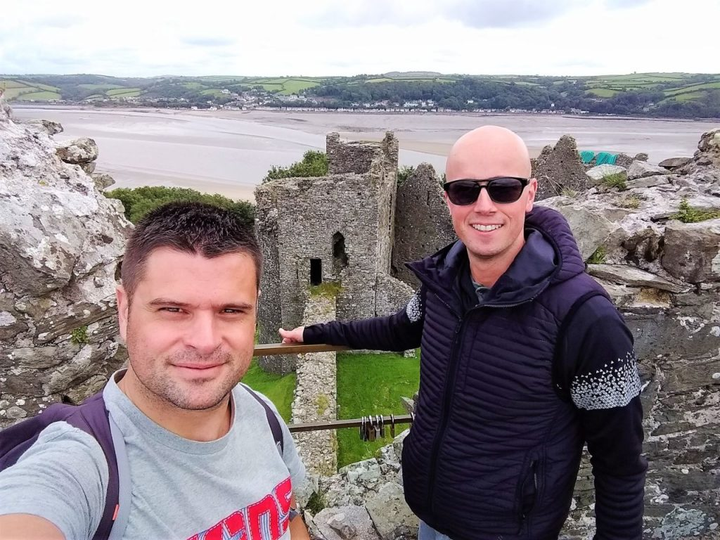 Coastal Road Trip, Llansteffan Castle, Julian, Jarno
