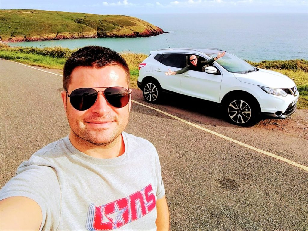 Coastal Road Trip, Manorbier Bay, Julian, Car, Jarno