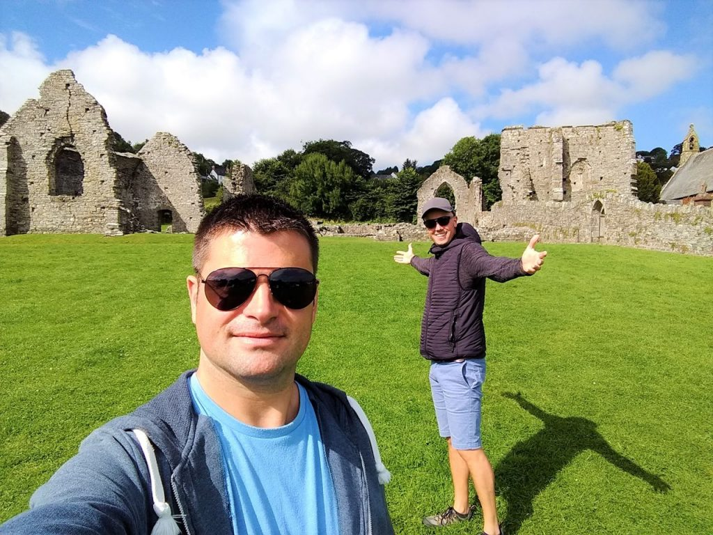 Coastal Road Trip, St Dogmaels Abbey, Julian, Jarno