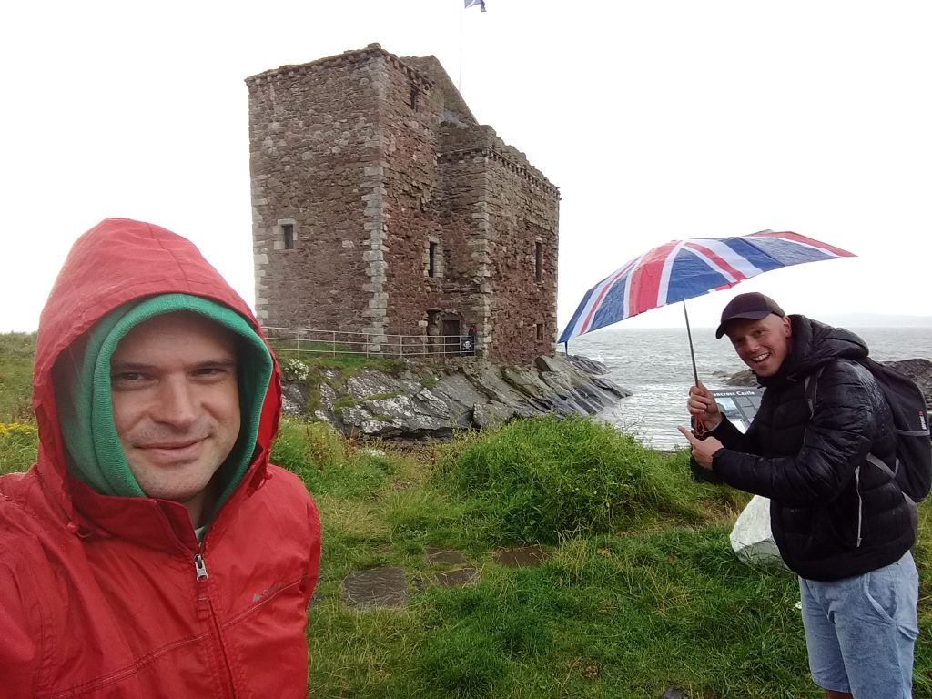 Coastal Road Trip, Portencross Castle, Julian, Jarno