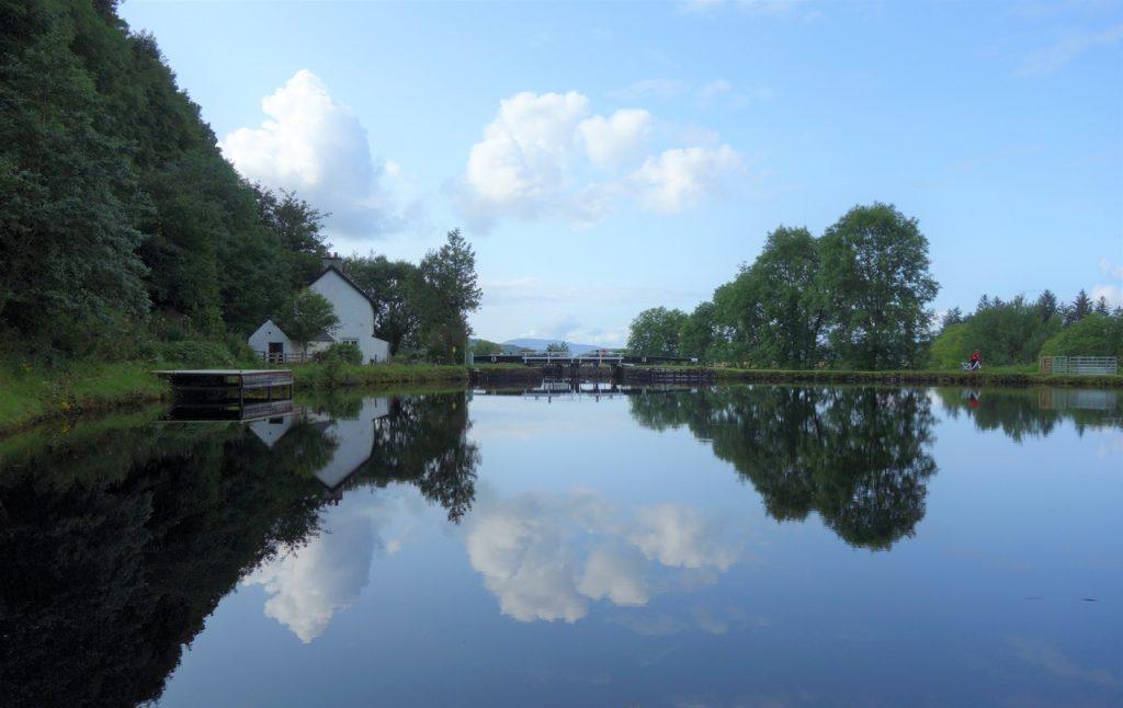 Coastal Road Trip, Cairnbaan, Crinan Canal, Reflections