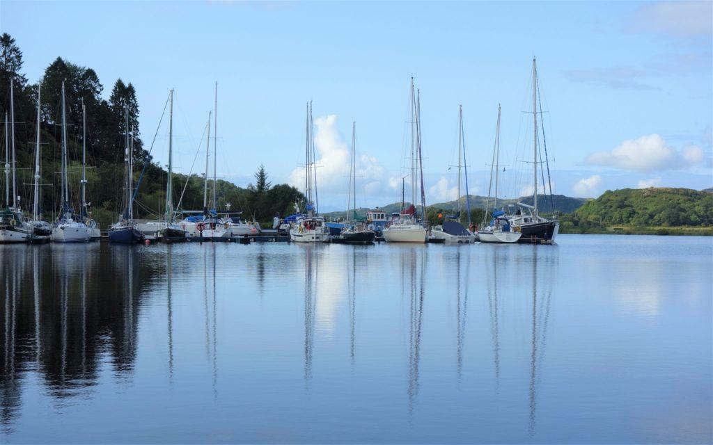 Coastal Road Trip, Bellanoch, Crinan Canal, Boat Reflections
