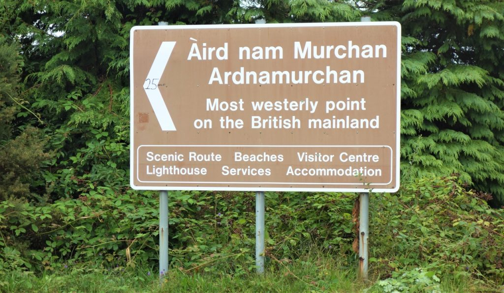 Coastal Road Trip, Ardnamurchan Sign