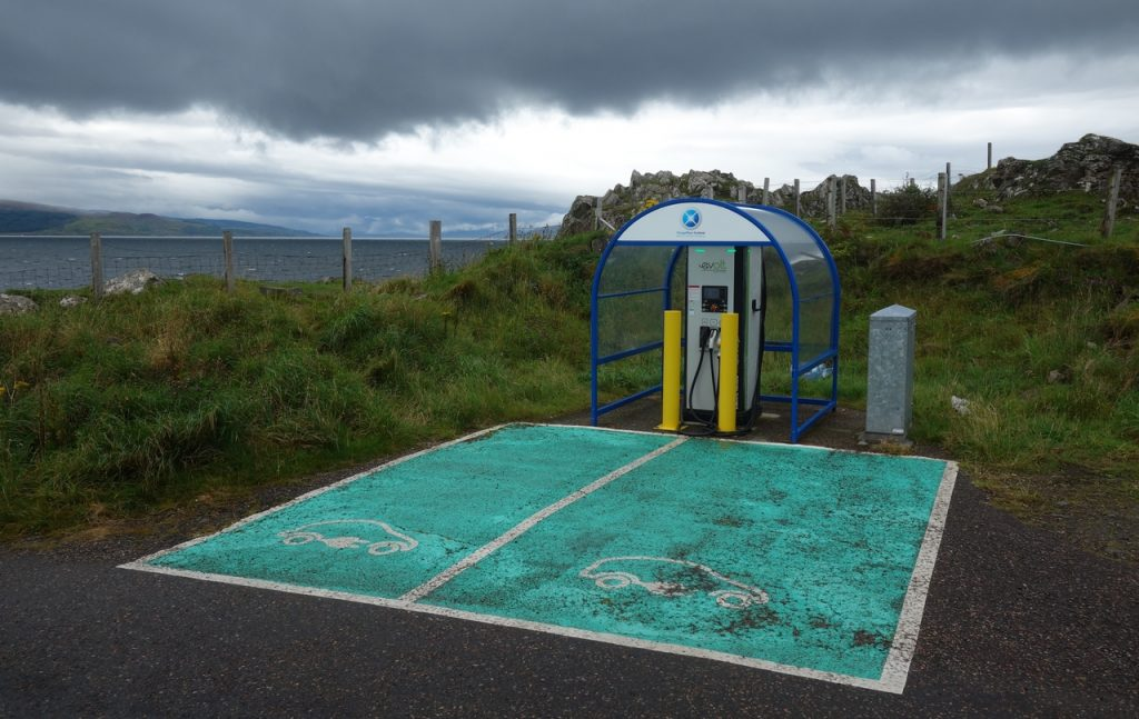Coastal Road Trip, Ardnamurchan, EV, Electric car charge point