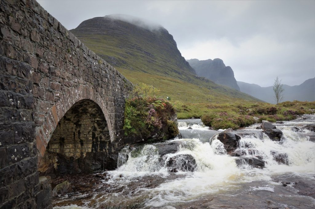 Coastal Road Trip, Pass of the Cattle, Bealach na Bà, Bridge