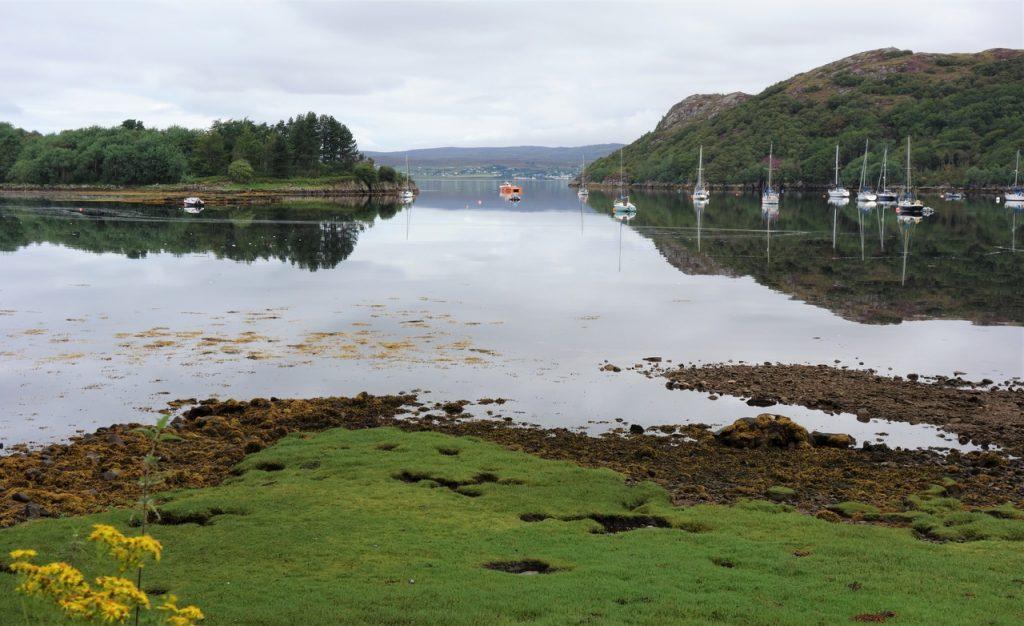 Coastal Road Trip, Loch Gairloch, Eilean Horrisdale, Reflections