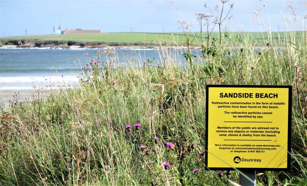 Coastal Road Trip, Sandside, Bay, Beach, Dounreay Nuclear Power Station Warning