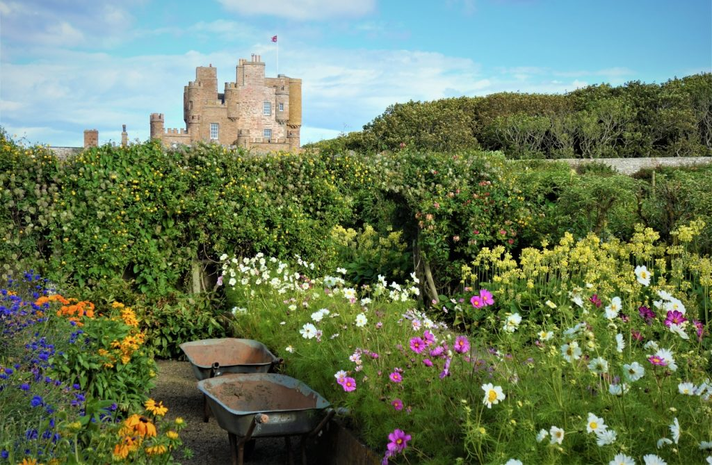 Coastal Road Trip, Castle of Mey, Queen Mother, Gardens, Wheelbarrow