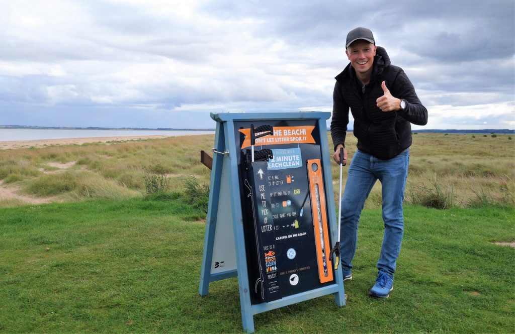 Coastal Road Trip, Dornoch, Beach, 2 minute beach clean, Jarno