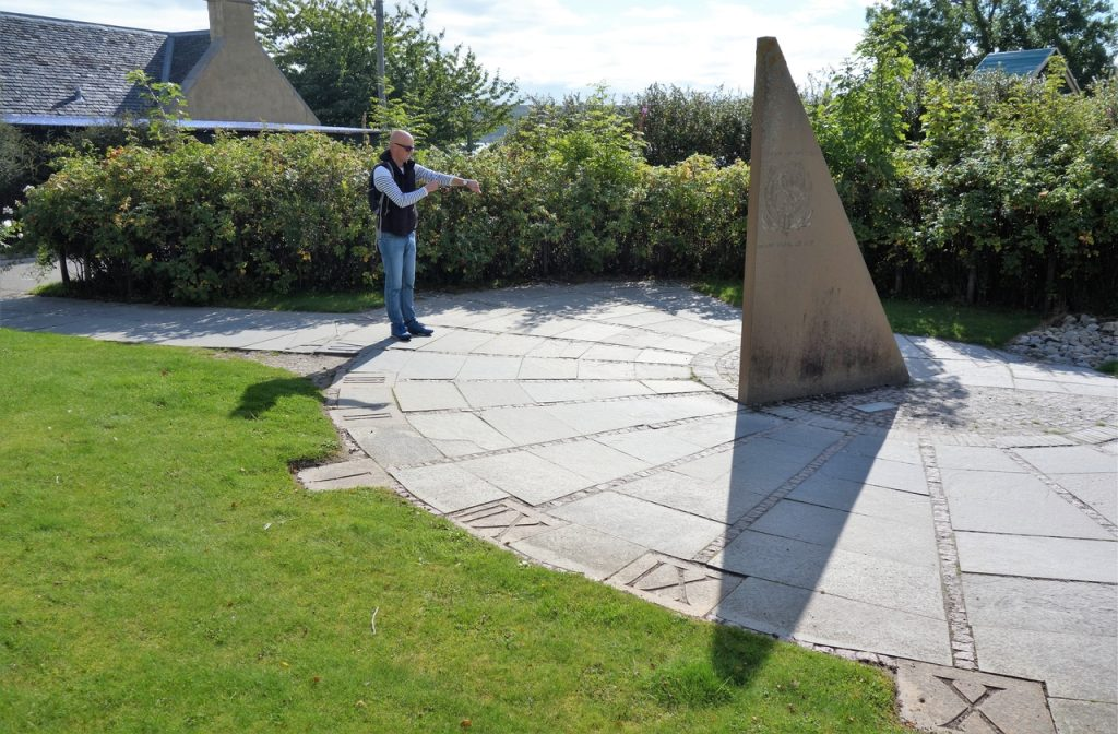 Coastal Road Trip, The Storehouse of Foulis, Cromarty Firth, Sundial