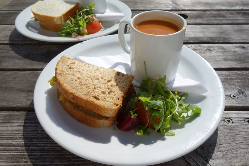 Coastal Road Trip, Fochabers, Baxters, Soup, Sandwich, Lunch