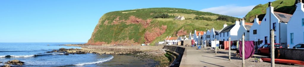 Coastal Road Trip, Pennan, Fishing village, Panoramic