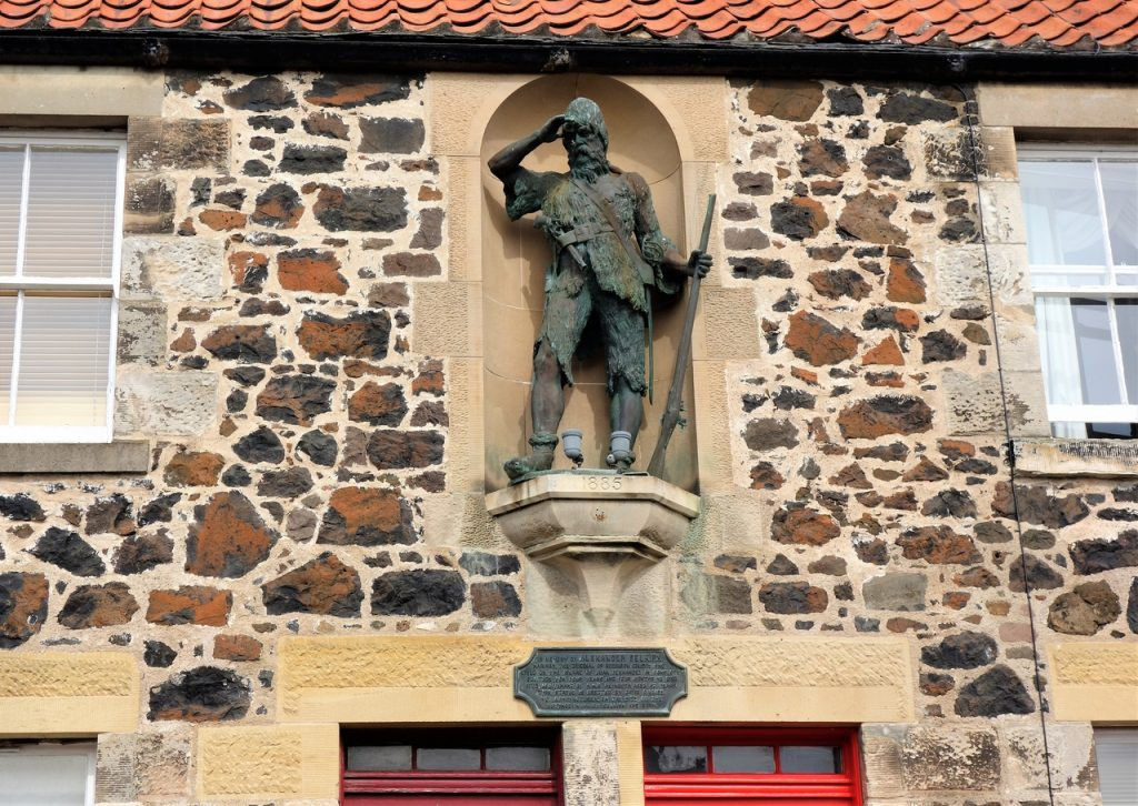 Coastal Road Trip, Lower Largo, Alexander Selkirk Statue, Robinson Crusoe