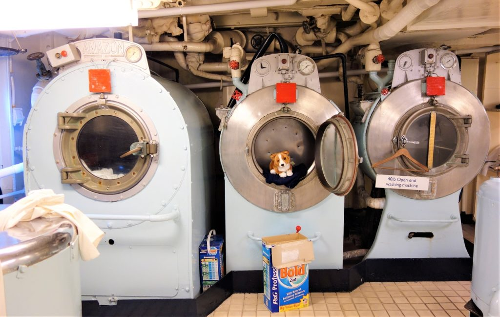 Coastal Road Trip, Royal Yacht Britannia, Washing Machines, Corgi, Launderette