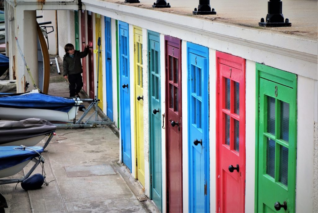 Coastal Road Trip, North Berwick, Coloured doors, Storage, Harbour