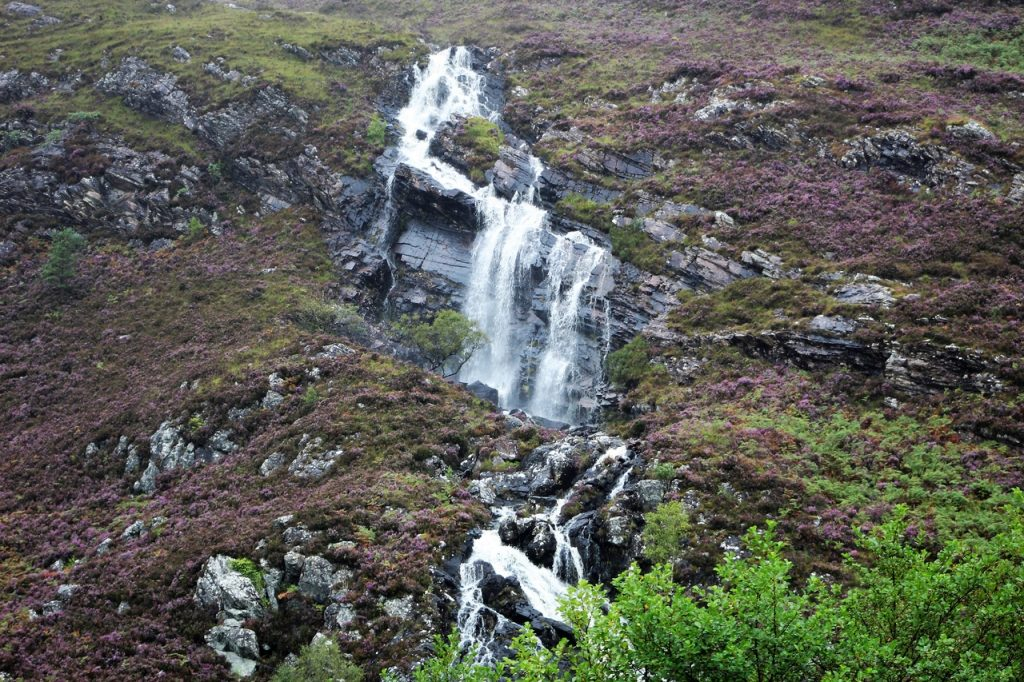 Coastal Road Trip, Loch Carron, A896, Waterfall