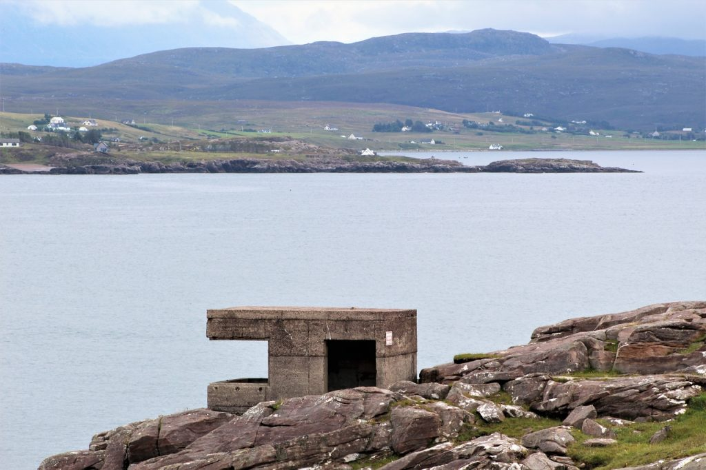 Coastal Road Trip, Loch Ewe, Isle of Ewe, Cove, Anti-Aircraft Battery