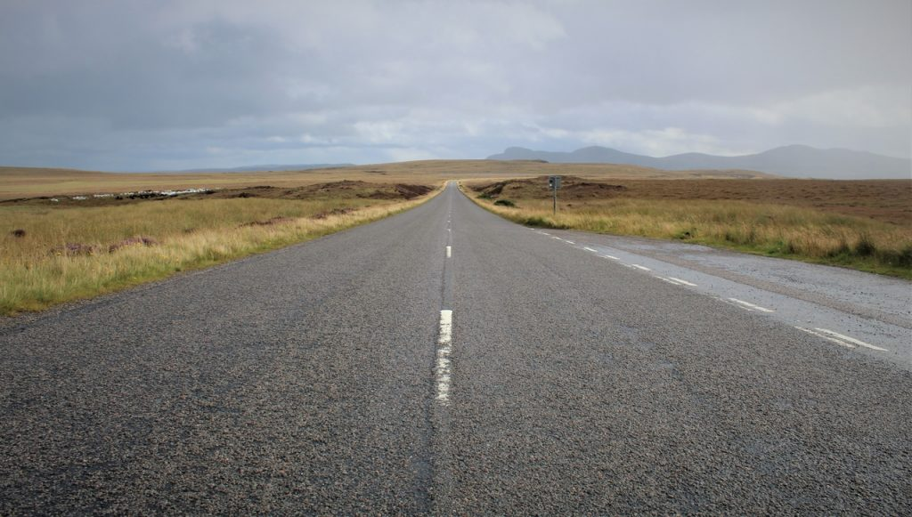 Coastal Road Trip, The Moine, A' Mhoine, Peat Bog, A838, Straight Empty Road