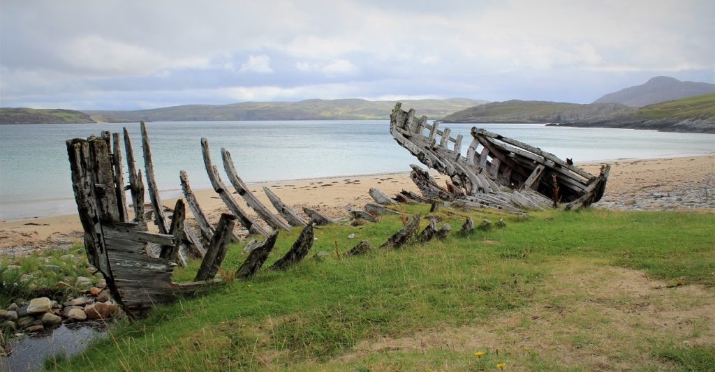 Coastal Road Trip, Talmine Bay, Melness Coast, Kyle of Tongue, Shipwreck