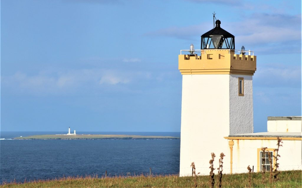 Coastal Road Trip, Duncansby Head, Lighthouse, Muckle Skerry, Pentland Skerries High and Low Lighthouses
