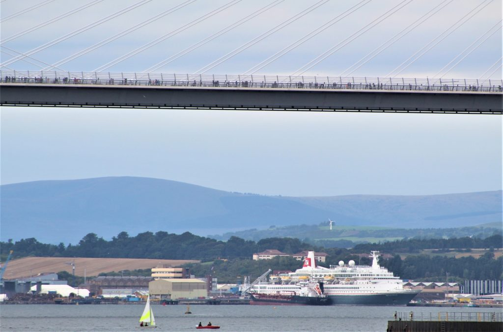 Coastal Road Trip, Firth of Forth, Queensferry Crossing bridge, Pedestrians