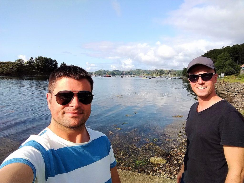 Coastal Road Trip, Old Crinan Harbour, Loch Crinan, Julian, Jarno