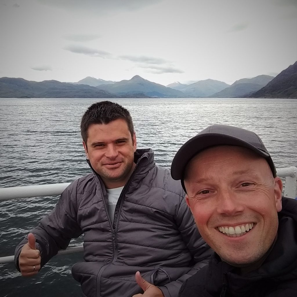 Coastal Road Trip, Mallaig to Armadale Ferry, Julian & Jarno