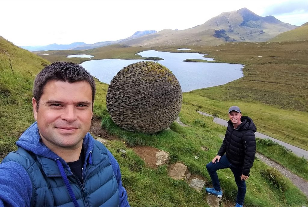 Coastal Road Trip, Knockan Crag, Globe, Joe Smith, Julian, Jarno