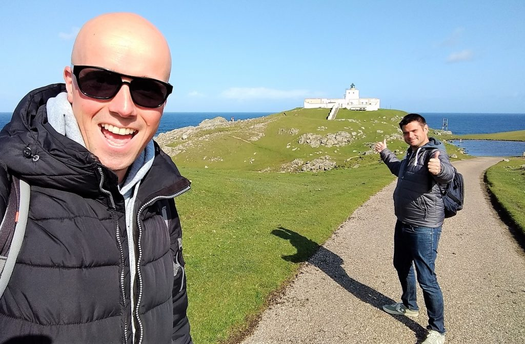 Coastal Road Trip, Strathy Point, Lighthouse, Julian, Jarno