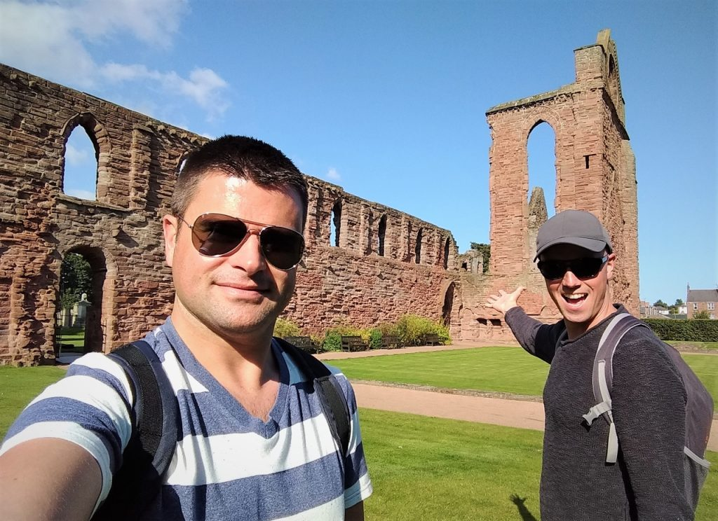 Coastal Road Trip, Arbroath Abbey, Julian, Jarno
