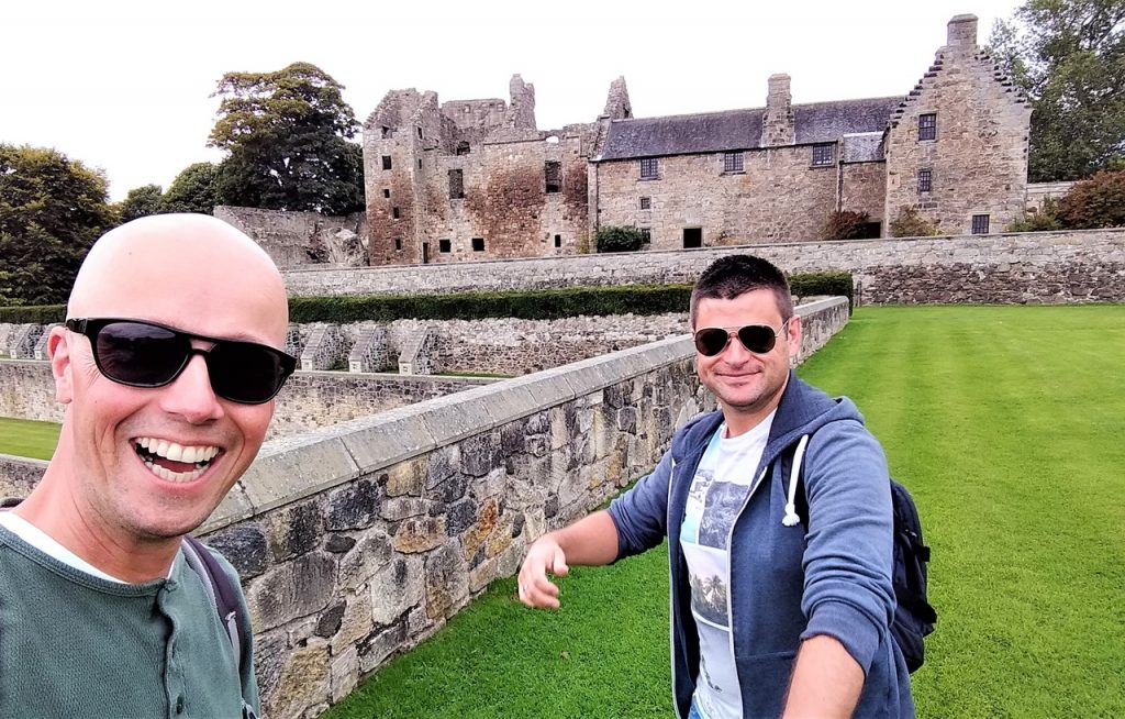 Coastal Road Trip, Aberdour Castle, Julian, Jarno