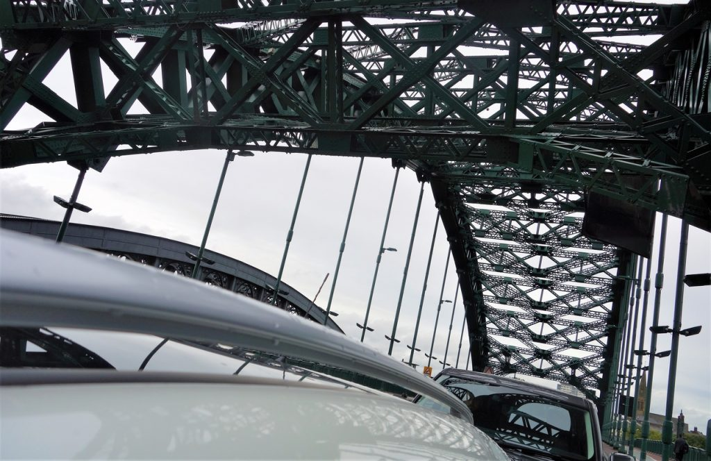 Coastal Road Trip, Sunderland, Wearmouth Bridge, A1018, Roof of car