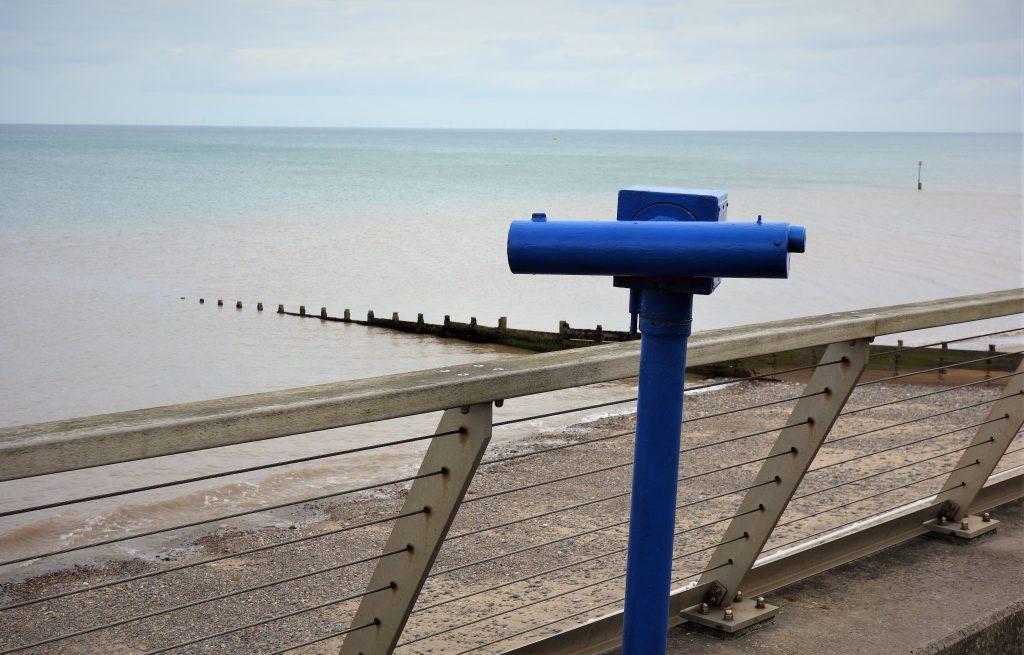 Coastal Road Trip, Hornsea, Telescope, Beach, Promenade